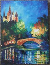 "Leonid Afremov ""Perfect Night""  LTD on Stretched Canvas - Gallery Wrapped 24x18"""