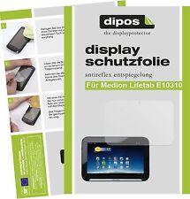 2x Medion Lifetab E10310 Aldi Schutzfolie matt Displayschutzfolie Folie dipos