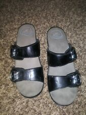 Dansko Sandals Black Patent Leather Size 36