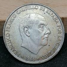 Spain 100 Pesetas Ptas silver coin 1966