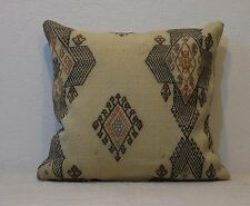 18 x 18 Embroidery Pillow Cover Vintage Kilim Pillow Bedding Desing interior