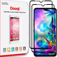 2X For LG G8X V50S ThinQ Full Coverage Full Glue Tempered Glass Screen Protector