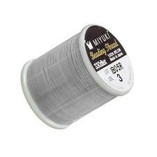 Miyuki Japanese Nylon Beading Thread B Silver 50 metre Reel (M46/1)