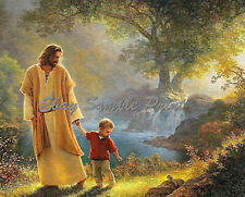 "Jesus With Child Photo/Poster  8x10 Christian Art  ""A Print for troubled times!"""