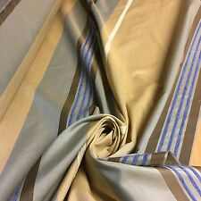 LUXURIOUS 2 TONE BLUE GOLD TAFFETA CURTAIN FABRIC 15 METRES