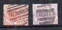 Tasmania 1880 3d & 6d Platypus Postally used F27 F28 WS14883