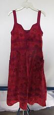 Marc by Marc Jacobs Red Floral Silk Dress Women's Sz 4
