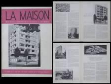 LA MAISON N°4 1953 BRUXELLES 77 BRAND WHITLOCK,ANTWERPEN BRITSELEI 4,GRATTE CIEL