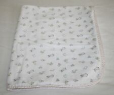 Carters Classics MARY HAD A LITTLE LAMB Baby Blanket Cotton Flannel 2 Ply USA