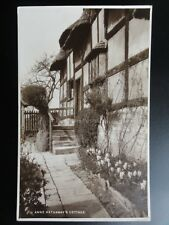 Warks: Anne Hathaway's Cottage c1929 RP by Trustees of Shakespears Birth Place