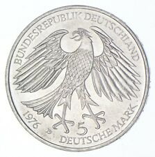 SILVER - WORLD Coin - 1976 Germany 5 Mark - World Silver Coin *515