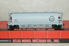 HO scale Atlas Missouri Pacific RR cylindrical grain hopper car train