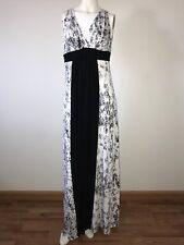 TART Collections Black White Modal Jersey Sz Large Animal Print Maxi Dress #X76