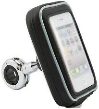 Arkon MC2C5WPCS Chrome Aluminum Bike Motorcycle Phone Mount Holder