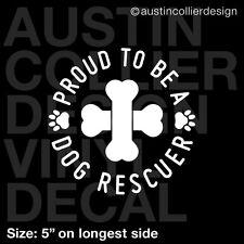 "5"" DOG RESCUER vinyl decal car window laptop sticker - dog breed rescue gift"