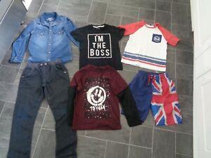 boys clothes bundle,6-7 years-jeans,shorts,2 x t-shirts,denim shirt+top