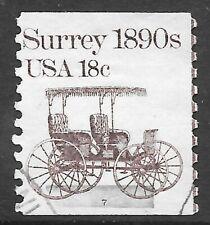 U.S. Scott #1907 18c Surrey Stamp USED PS1 Plate #7 F-VF Cat. $6.95