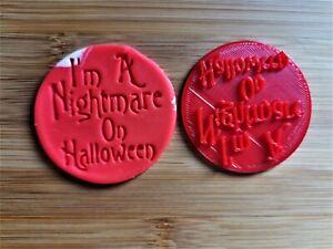 3D Printed Nightmare on Halloween Fondant Embosser Stamper, Cookie Stamper