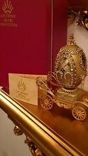 24K Gold Imperial Faberge Egg Russian Real egg Handmde Musical carriage One Only