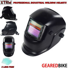 Auto Darkening Welding Helmet With Solar Panel IV UV Protection MATT BLACK