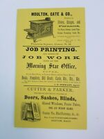 1880 Dover New Hampshire Print Advertisement Moulton Morning Star Cutter Parker