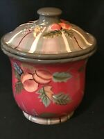 Tracy Porter - The Octavia Hill Collection - Large Fruit Cookie Jar Canister EUC