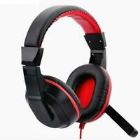 Gaming Headphones Stereo Adjustable Earphone 3.5mm Computer PC Live Streaming
