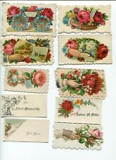 Lot of 10 Victorian Calling Cards Including Hidden Diecuts #4