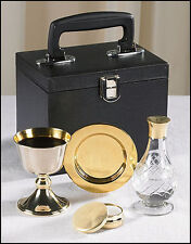 Chalice Paten Pyx Holy Water Bottle Carrying Case Minister Traveling Mass Kit