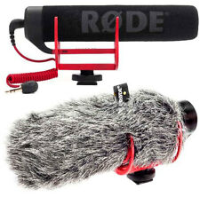 RODE VideoMic GO Richtrohr-Kamera Mikrofon + DeadCat Go Fell-Windschutz