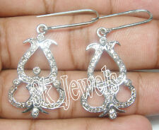 GENIUNE 1.50ctw ROUND DIAMOND 14k WHITE GOLD WEDDING ANNIVERSARY EARRINGS