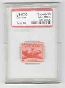 #C33  PSE Superb 98 MNH OG Encapsulated SMQ. $95 (JH 5/12/21) GP