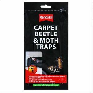 Carpet Beetle & Moth Traps Non-Toxic & Pheromone Glue 2 Traps - Rentokil
