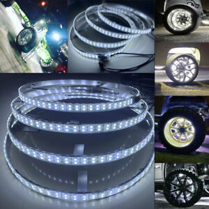 4PCS 17.5'' Wheel Lights Pure White 600LEDs Double Row Switch Control For Truck