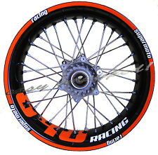 KTM 640 racing orange - Felgenaufkleber (Supermoto) wheel sticker decal