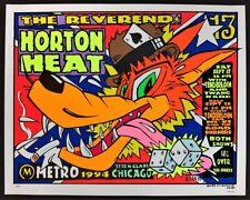 The Reverend Horton Heat POSTER Tenderloin Silkscreen Signed Kozik 94-20 Chicago