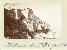 France, Cannes, Fort royal de l'île Sainte-Marguerite vintage silver print,