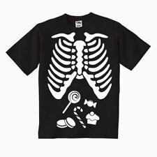 T-shirt bimbo o bimba Halloween scheletro gabbia toracica e dolcetti!