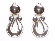 Door Knocker Stud Earrings Silver Colour Metal Vintage Party Jewellery New(ZX44)