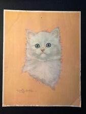 """Marshmallow"" White Kitty Art Print by Robert Guzman-Forbes"