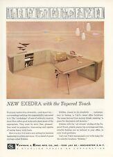 1959 Yawman & Erbe Office Furniture Ad Mid Century Modern Style Desk Art Eames