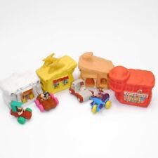 FLINTSTONES BUILDINGS & VEHICLES McDonald's Playset Lot of 8 Houses Cars 1990s