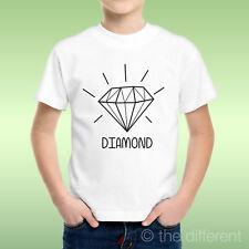camiseta Niño niño Diamante Negro Diamond Dibujo Idea De Regalo