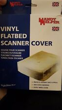 White Thick Vinyl  Dustproof Flatbed Scanner Cover Anti-Static Water Resistance