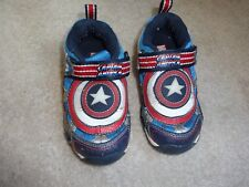 Stride Rite Baby Boy Shoes 8.5 M Capitan America Marvel Sneakers Tennis Star