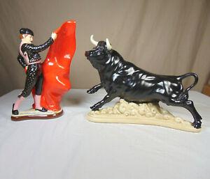 Atlantic Mold Large Ceramic Bull and Matador