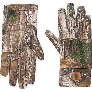Carhartt Pocket Liner Camo Gloves, Men's Size L, Realtree B15 MP