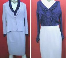Anne Brooks Petite lilac summer occasional suit Jacket UK 16 Skirt UK14 & East16