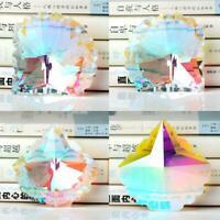 1xRainbow Crystal Suncatcher Hanging Ball Prisms Pendant Window Home Decor G0L0