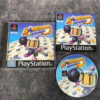 Bomberman World PS1 PlayStation 1 PAL Game Complete Hudson Rare